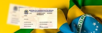 imagem bandeira do brasil e rne